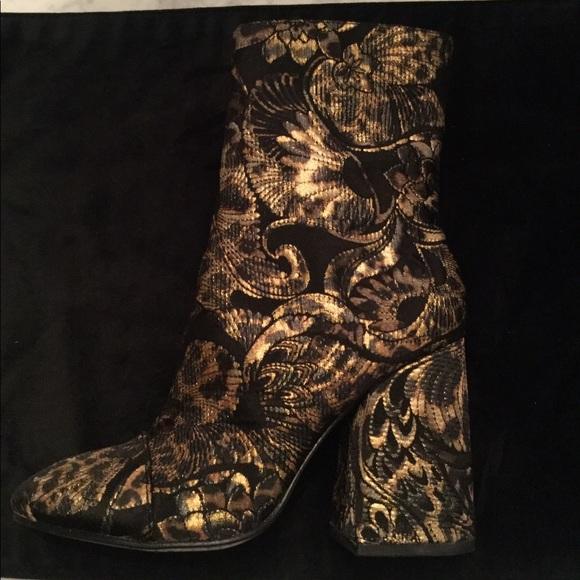 NIB ASH Leopard Tapestry Booties Size 38 🤎